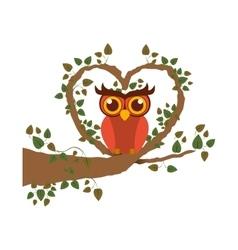 Isolated owl cartoon design vector image