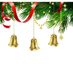 Jingle bell decorations vector