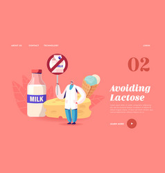 lactose intolerance allergy on dairy products vector image