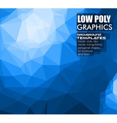 Low Poly trangular trendy hipster background vector image