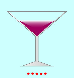 martini glass it is icon vector image