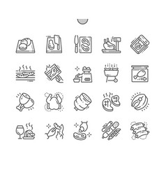 Meat well-crafted pixel perfect thin line vector