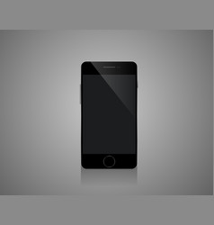 Mobile smartphones mock-up in black colors vector