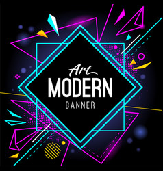 Modern art banner abstract wallpaper vector