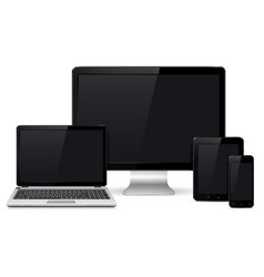 modern digital devices vector image