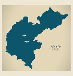Modern map - ahafo region map ghana gh vector