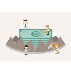 Money in trap vector image