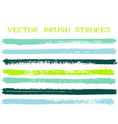 mottled ink brush strokes isolated design elements vector image