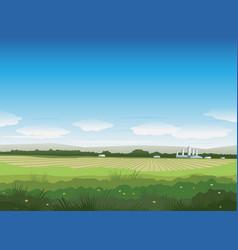 nature summer field landscape vector image
