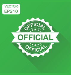 Official rubber stamp icon business concept vector