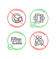 Online survey reload and smartphone sms icons set vector