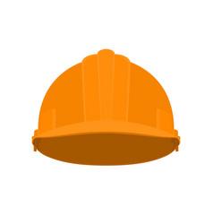 Orange working safety helmet vector