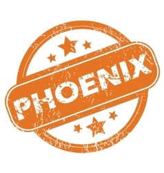 Phoenix round stamp vector