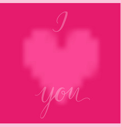 pink heart and i love you inscription background vector image