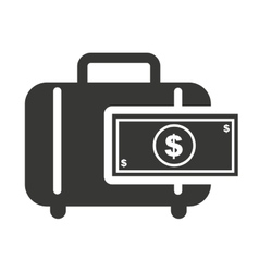 Portfolio with finance icon vector