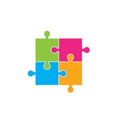 puzzle design vector image