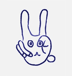 Rabbit finger vector image