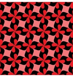Rhombus and flower seamless pattern vector image