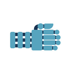 Robot fist isolated cyborg hand vector