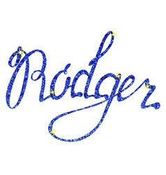 rodger name lettering tinsels vector image