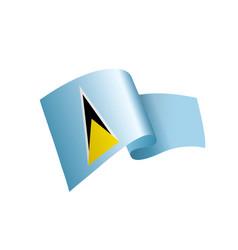 saint lucia flag vector image