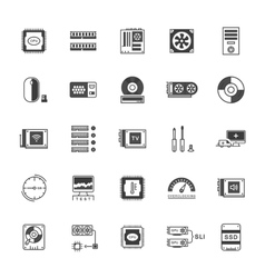 Set Icons Upgrading Computer vector