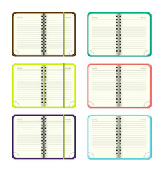 Set of template open a blank notepad vector