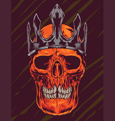 Skull crown vector