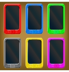 Smartphone set vector