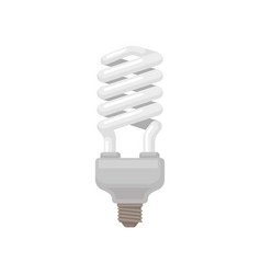 spiral-shaped compact fluorescent lamp energy vector image