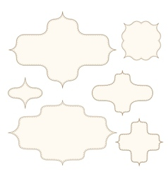 Stitched frames set vector