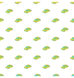 Taxi car pattern cartoon style vector image