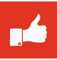 The thumb up icon like symbol flat vector