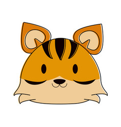 tiger cute animal cartoon icon image vector image