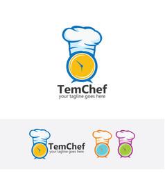 Time chef logo vector