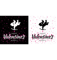 valentines day card set valentine banners vector image