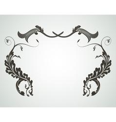 Vintage floral frame Design for invitations and vector image