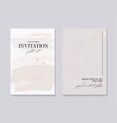 Wector wedding collection in grey colors marble vector