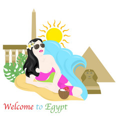 Welcome to egypt vector
