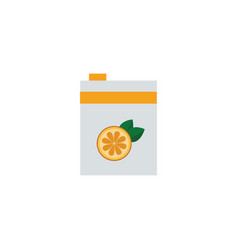 white box orange juice in flat cartoon style vector image