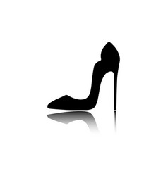 woman shoes with high heels graphic design logo vector image