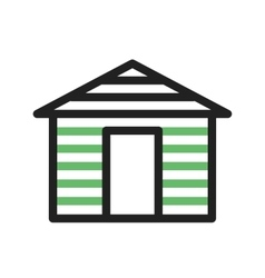 Wood Cabin vector image
