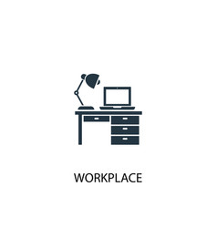 workplace icon simple element vector image