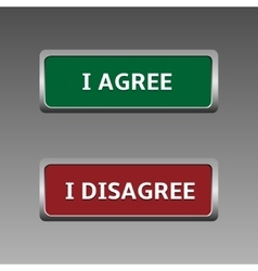 Agree and disagree vector image