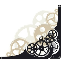Cog wheels vector image