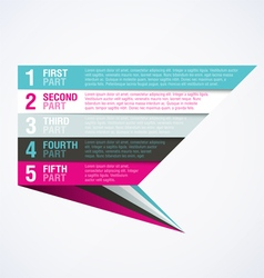 Infographics element vector image vector image