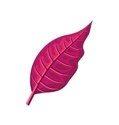 Red Leaf in Flat Design vector image vector image