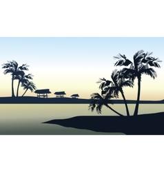 Tropical sea landscape vector image vector image