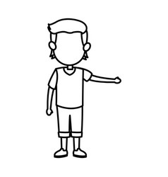 cartoon boy kid son family image vector image