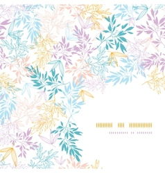 Colorful pastel branches corner seamless pattern vector image